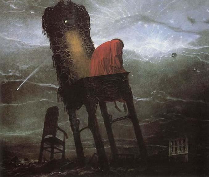 Πολωνός ζωγράφος έμαθε να «φωτογραφίζει όνειρα» και τα έργα του προκαλούν εφιάλτες (4)