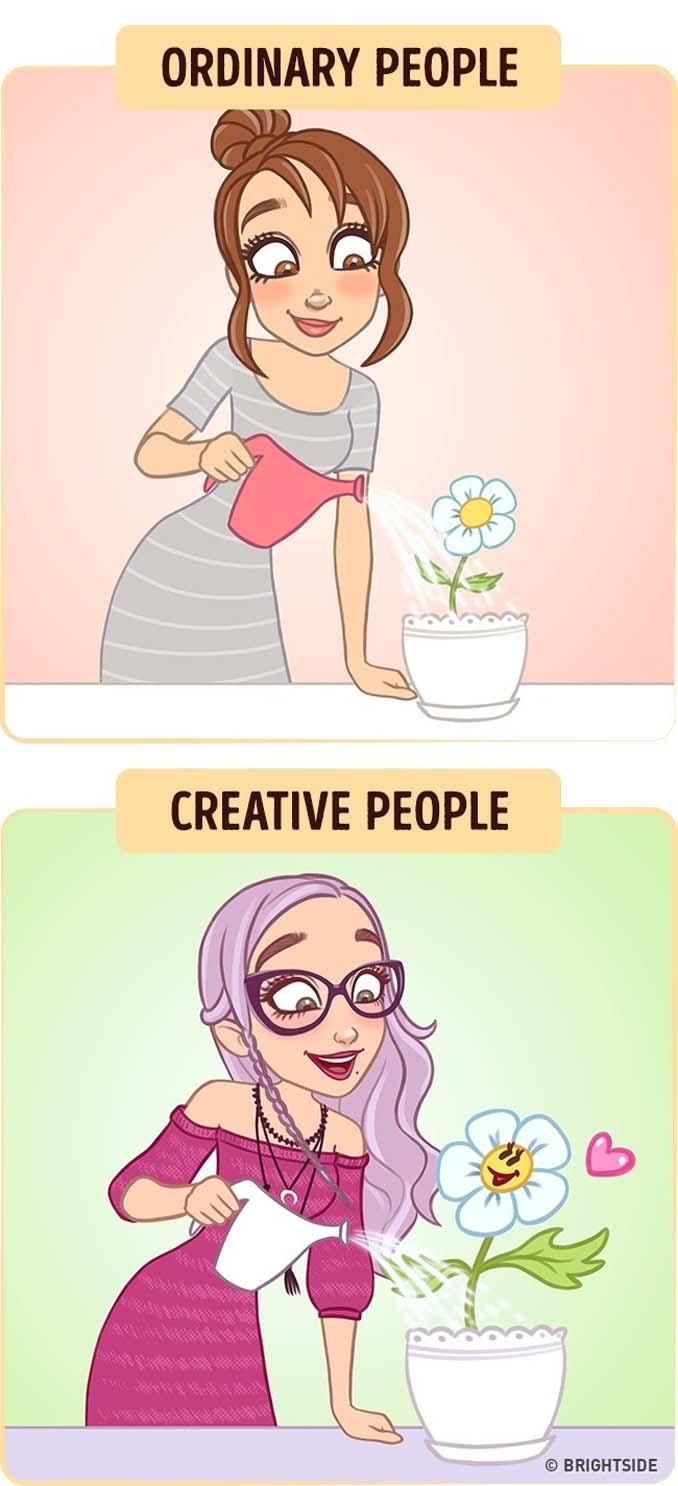 10 διασκεδαστικά σκίτσα δείχνουν πως βλέπουν τον κόσμο οι δημιουργικοί άνθρωποι (2)