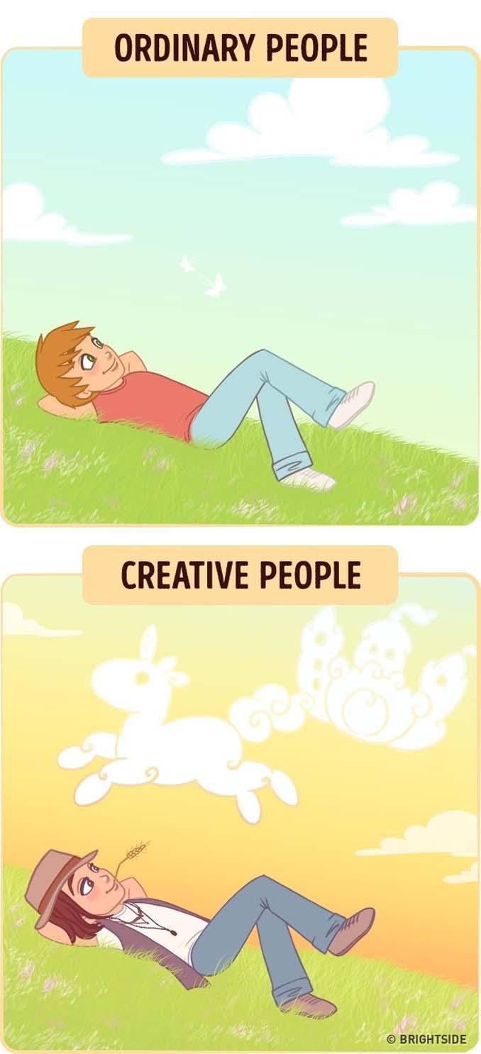 10 διασκεδαστικά σκίτσα δείχνουν πως βλέπουν τον κόσμο οι δημιουργικοί άνθρωποι (3)