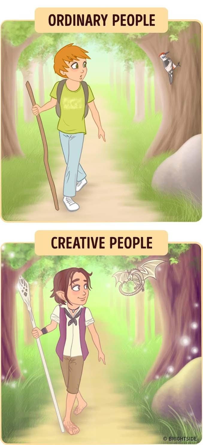 10 διασκεδαστικά σκίτσα δείχνουν πως βλέπουν τον κόσμο οι δημιουργικοί άνθρωποι (4)