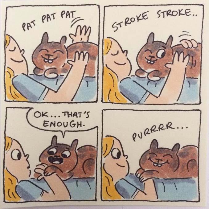 Σκιτσογράφος δείχνει πως είναι η ζωή με τις γάτες της (1)