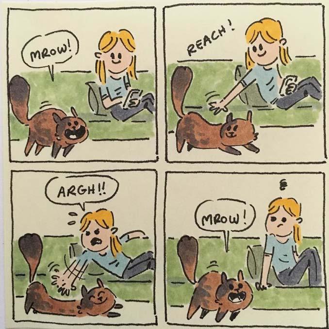 Σκιτσογράφος δείχνει πως είναι η ζωή με τις γάτες της (3)