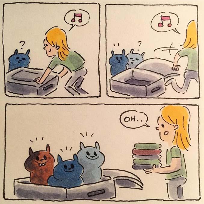 Σκιτσογράφος δείχνει πως είναι η ζωή με τις γάτες της (4)