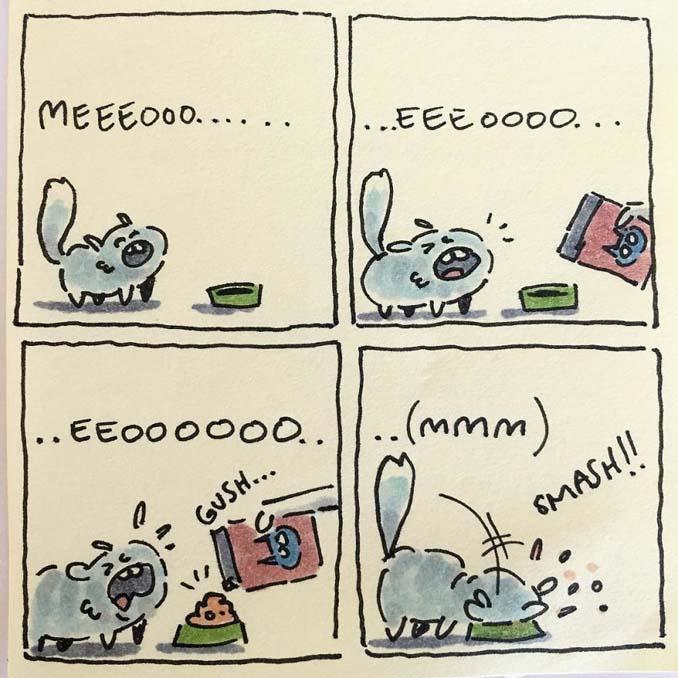 Σκιτσογράφος δείχνει πως είναι η ζωή με τις γάτες της (8)