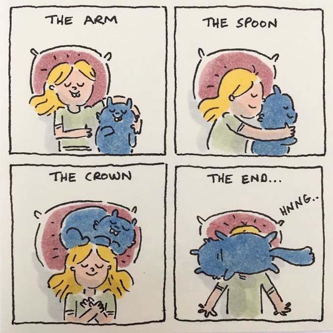 Σκιτσογράφος δείχνει πως είναι η ζωή με τις γάτες της (9)