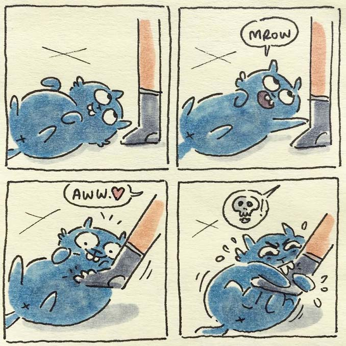 Σκιτσογράφος δείχνει πως είναι η ζωή με τις γάτες της (10)