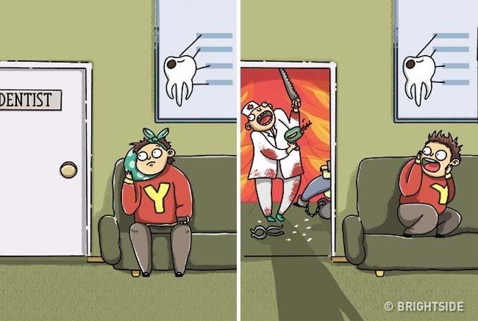 Χιουμοριστικά σκίτσα τα οποία δείχνουν συναισθήματα που συνήθως κρατάμε κρυφά (6)