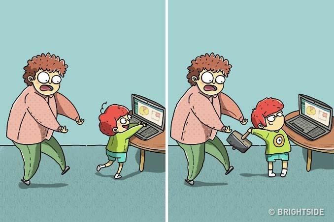 Χιουμοριστικά σκίτσα τα οποία δείχνουν συναισθήματα που συνήθως κρατάμε κρυφά (10)