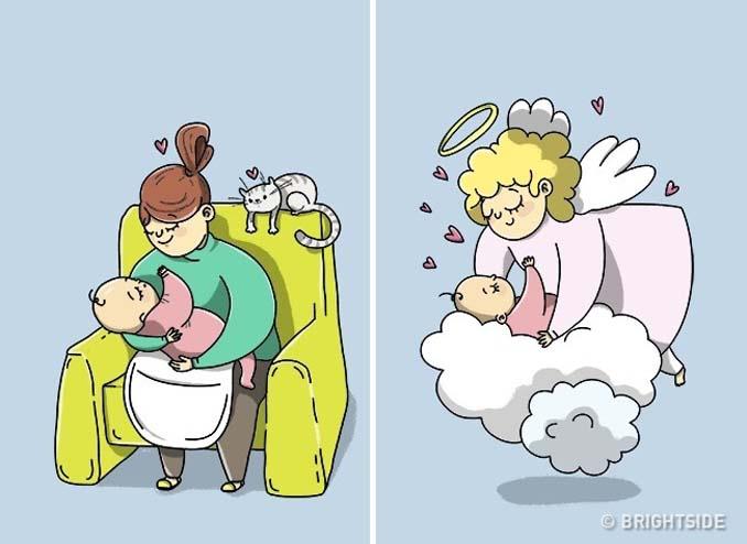 Χιουμοριστικά σκίτσα τα οποία δείχνουν συναισθήματα που συνήθως κρατάμε κρυφά (13)