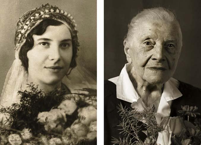 Τότε και τώρα: Φωτογραφίες ανθρώπων σε νεαρή ηλικία και μετά τα 100 τους χρόνια (1)