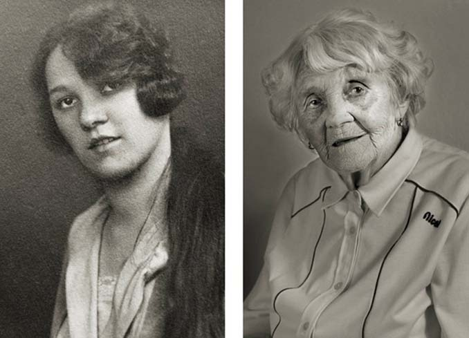 Τότε και τώρα: Φωτογραφίες ανθρώπων σε νεαρή ηλικία και μετά τα 100 τους χρόνια (4)