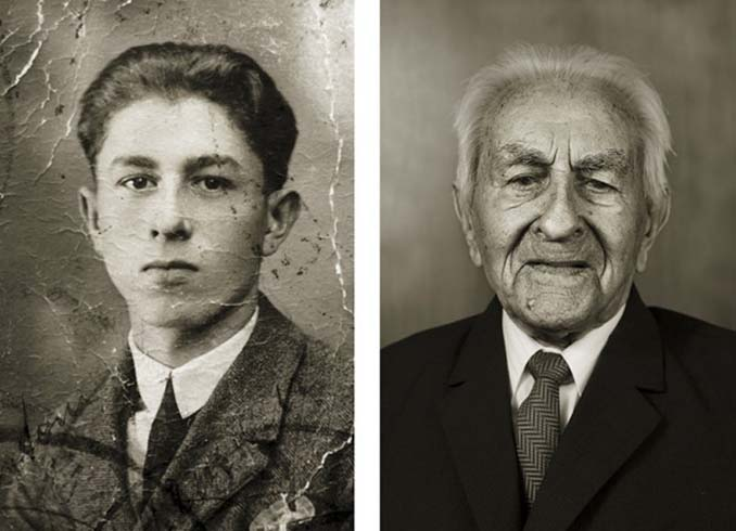 Τότε και τώρα: Φωτογραφίες ανθρώπων σε νεαρή ηλικία και μετά τα 100 τους χρόνια (6)