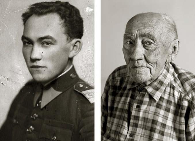 Τότε και τώρα: Φωτογραφίες ανθρώπων σε νεαρή ηλικία και μετά τα 100 τους χρόνια (7)