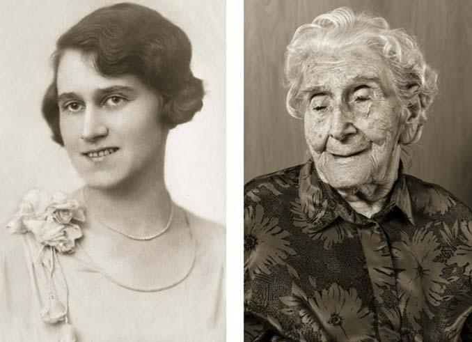 Τότε και τώρα: Φωτογραφίες ανθρώπων σε νεαρή ηλικία και μετά τα 100 τους χρόνια (8)