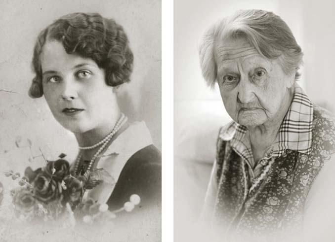 Τότε και τώρα: Φωτογραφίες ανθρώπων σε νεαρή ηλικία και μετά τα 100 τους χρόνια (9)