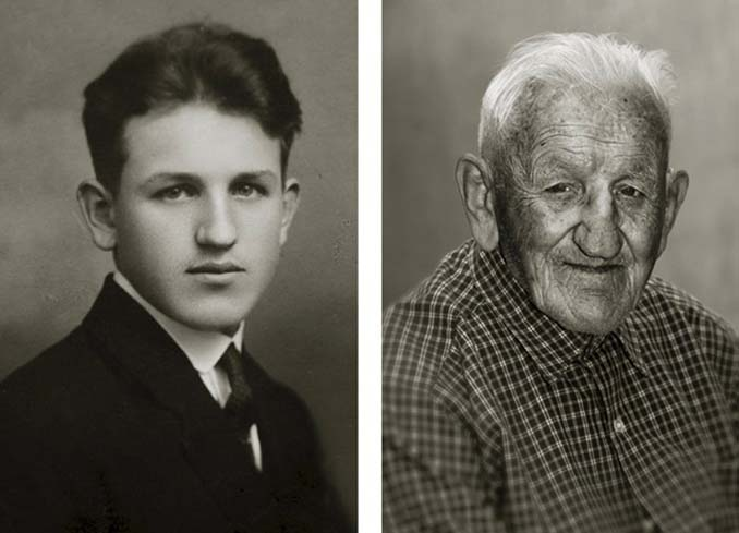 Τότε και τώρα: Φωτογραφίες ανθρώπων σε νεαρή ηλικία και μετά τα 100 τους χρόνια (10)