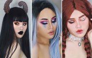 19χρονη φαντάζεται τα 12 ζώδια χρησιμοποιώντας την τέχνη του μακιγιάζ