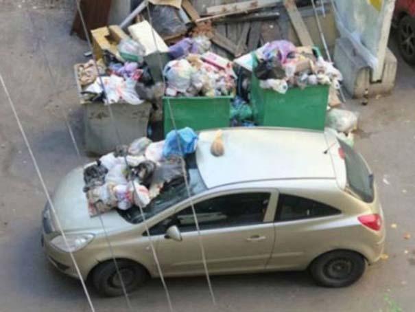 Αυτά παθαίνεις όταν παρκάρεις όπου να 'ναι (4)