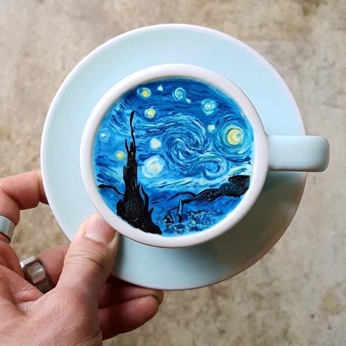 Κορεάτης barista μετατρέπει κούπες καφέ σε απίστευτα έργα τέχνης (1)