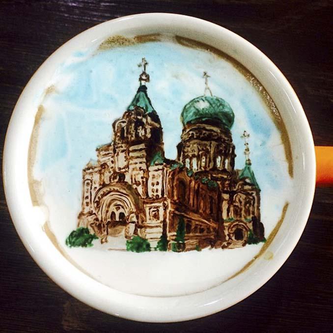Κορεάτης barista μετατρέπει κούπες καφέ σε απίστευτα έργα τέχνης (2)