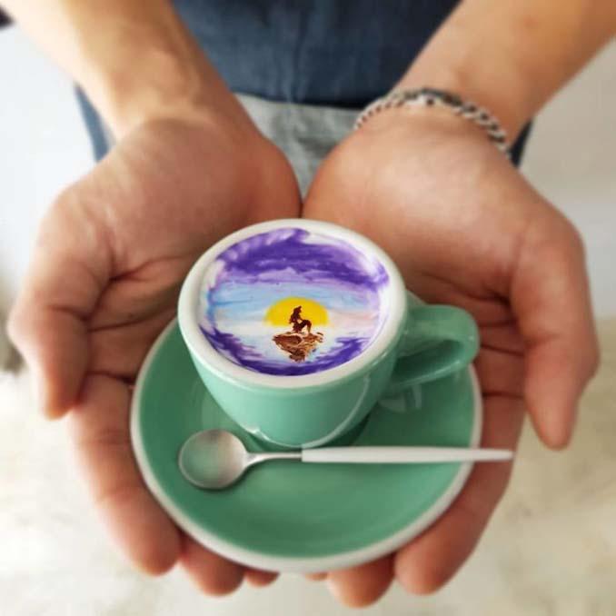 Κορεάτης barista μετατρέπει κούπες καφέ σε απίστευτα έργα τέχνης (7)