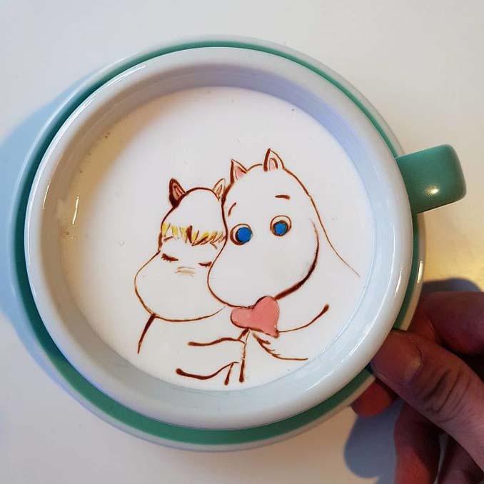 Κορεάτης barista μετατρέπει κούπες καφέ σε απίστευτα έργα τέχνης (9)