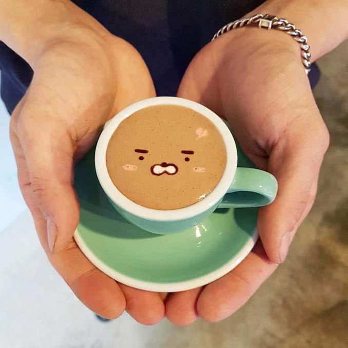 Κορεάτης barista μετατρέπει κούπες καφέ σε απίστευτα έργα τέχνης (10)