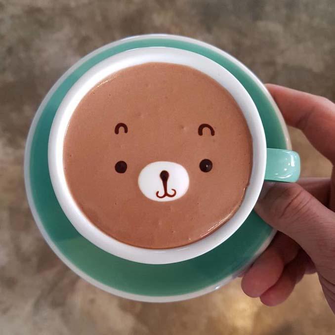 Κορεάτης barista μετατρέπει κούπες καφέ σε απίστευτα έργα τέχνης (11)