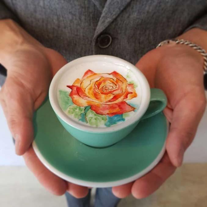 Κορεάτης barista μετατρέπει κούπες καφέ σε απίστευτα έργα τέχνης (12)