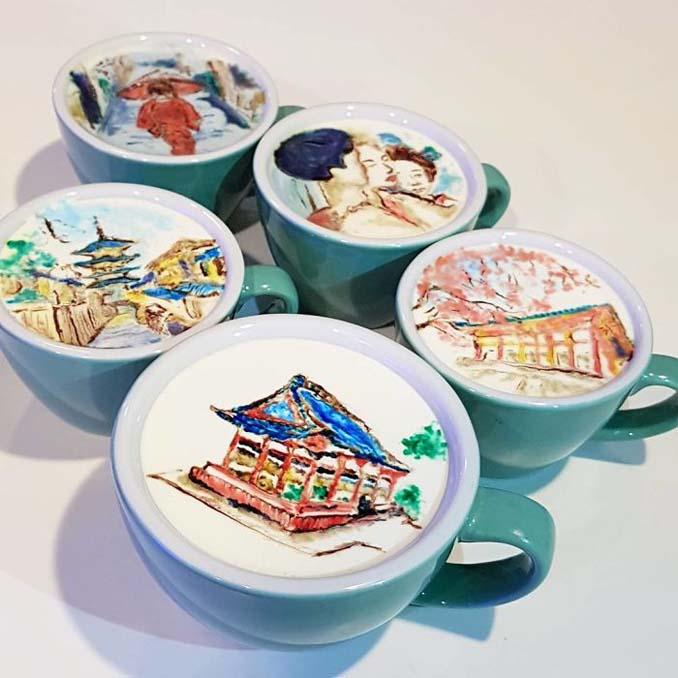Κορεάτης barista μετατρέπει κούπες καφέ σε απίστευτα έργα τέχνης (15)