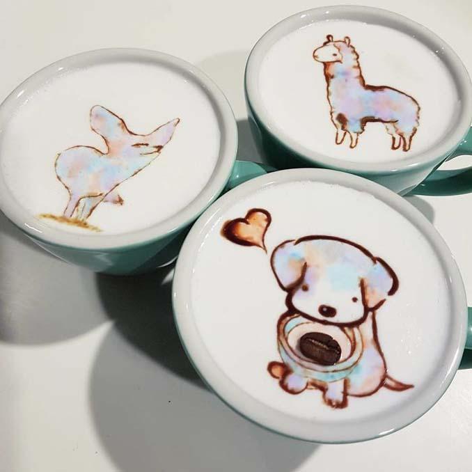 Κορεάτης barista μετατρέπει κούπες καφέ σε απίστευτα έργα τέχνης (16)