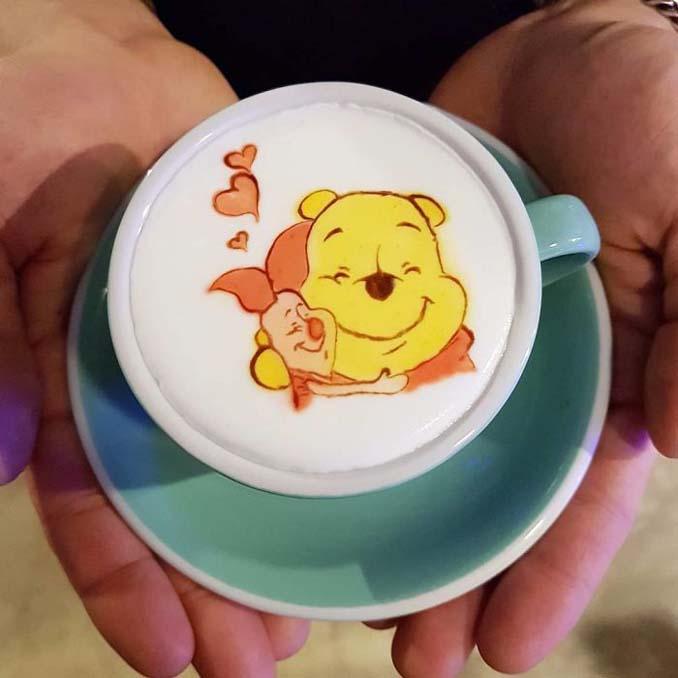 Κορεάτης barista μετατρέπει κούπες καφέ σε απίστευτα έργα τέχνης (17)