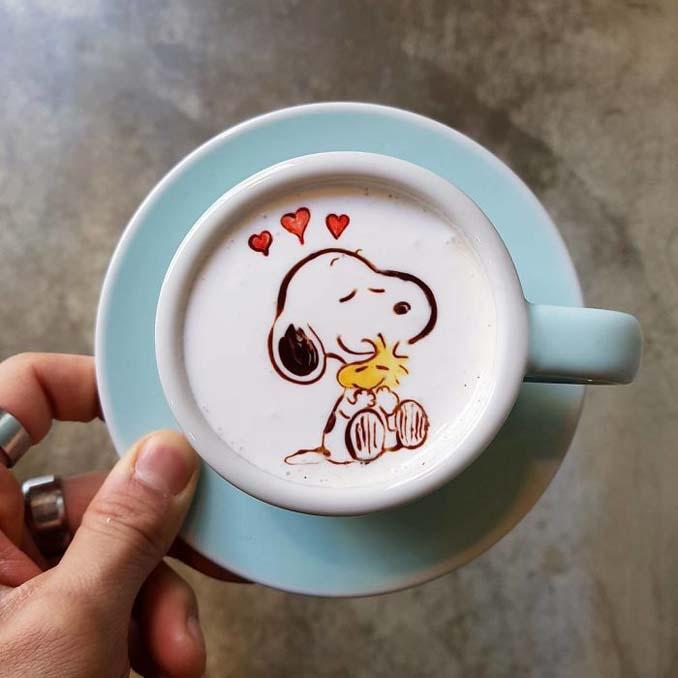 Κορεάτης barista μετατρέπει κούπες καφέ σε απίστευτα έργα τέχνης (21)