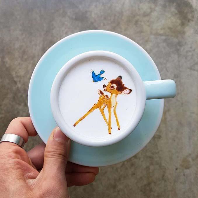 Κορεάτης barista μετατρέπει κούπες καφέ σε απίστευτα έργα τέχνης (22)