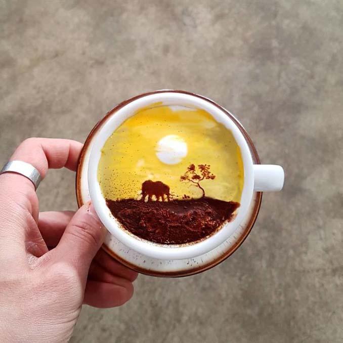 Κορεάτης barista μετατρέπει κούπες καφέ σε απίστευτα έργα τέχνης (23)