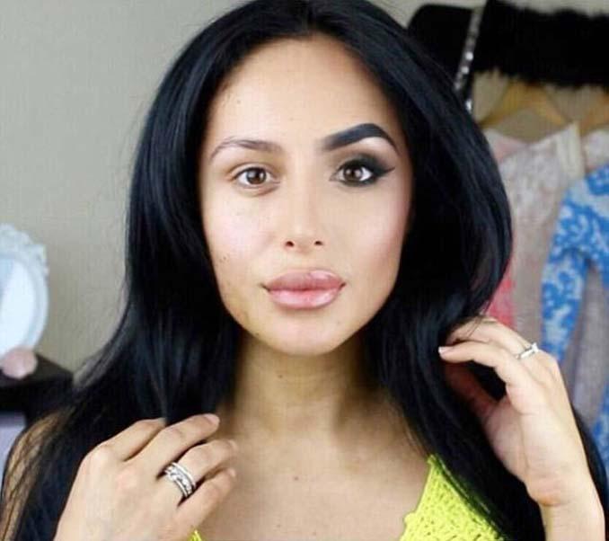 Make up artist ξεκίνησε μια πρόκληση που δείχνει την ομορφιά των γυναικών πριν και μετά το μακιγιάζ (4)