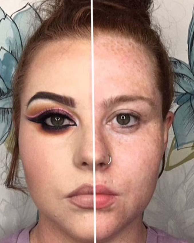 Make up artist ξεκίνησε μια πρόκληση που δείχνει την ομορφιά των γυναικών πριν και μετά το μακιγιάζ (7)