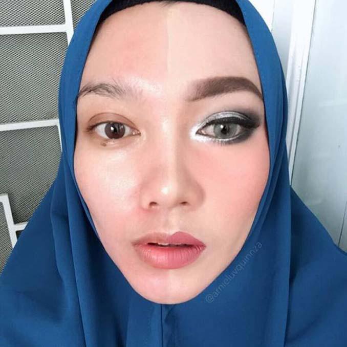 Make up artist ξεκίνησε μια πρόκληση που δείχνει την ομορφιά των γυναικών πριν και μετά το μακιγιάζ (14)