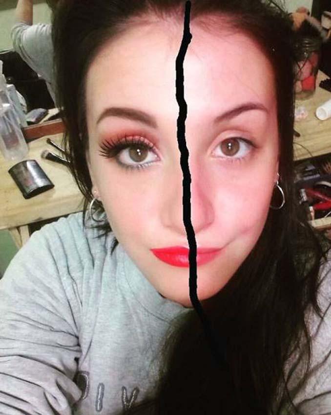 Make up artist ξεκίνησε μια πρόκληση που δείχνει την ομορφιά των γυναικών πριν και μετά το μακιγιάζ (15)