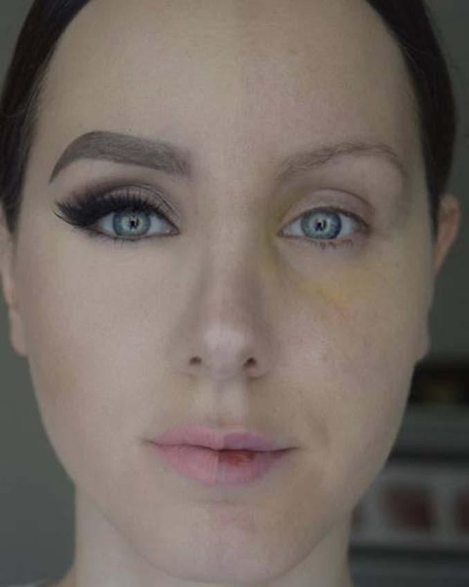Make up artist ξεκίνησε μια πρόκληση που δείχνει την ομορφιά των γυναικών πριν και μετά το μακιγιάζ (18)