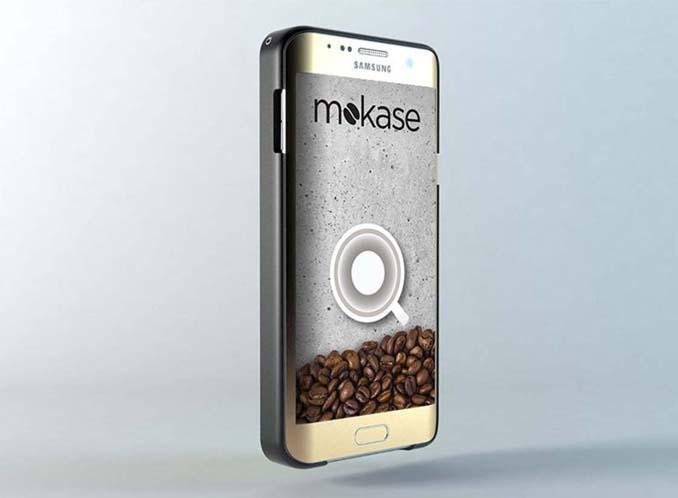 Mokase: Θήκη για κινητό τηλέφωνο που φτιάχνει καφέ (6)