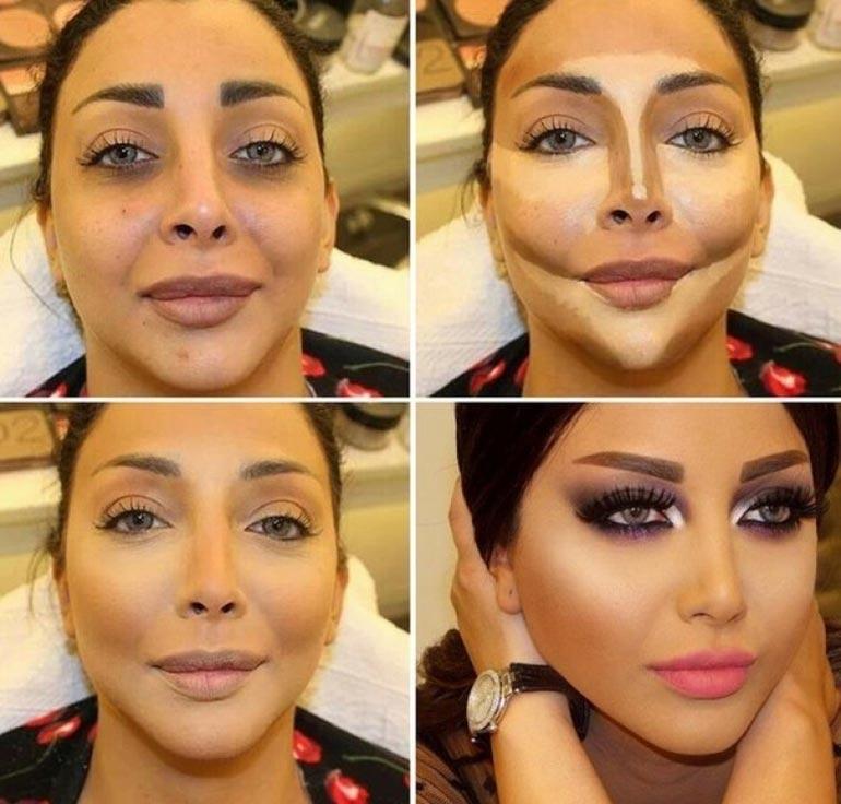 Η μεταμόρφωση ενός γυναικείου προσώπου σε 4 καρέ   Φωτογραφία της ημέρας