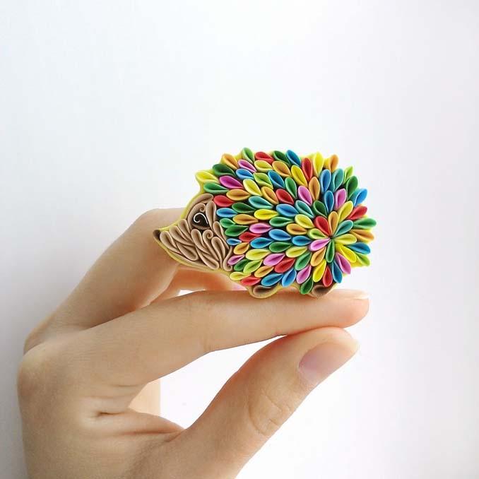 Καλλιτέχνιδα δημιουργεί πρωτότυπα κοσμήματα με πολυμερή πηλό (1)