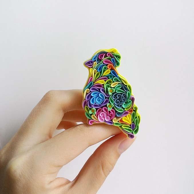 Καλλιτέχνιδα δημιουργεί πρωτότυπα κοσμήματα με πολυμερή πηλό (11)