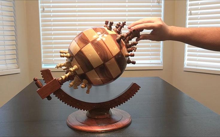 Σκακιέρα σε σχήμα υδρογείου σφαίρας (1)
