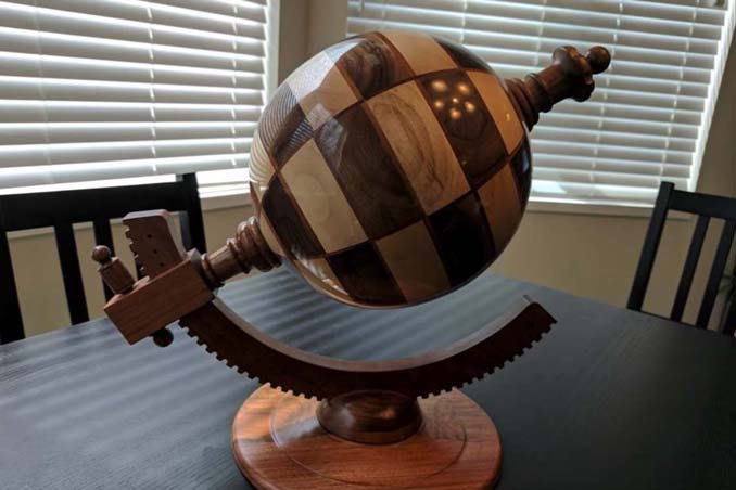 Σκακιέρα σε σχήμα υδρογείου σφαίρας (2)