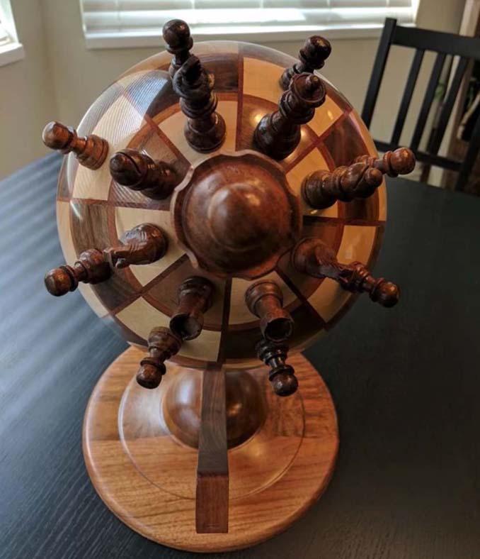 Σκακιέρα σε σχήμα υδρογείου σφαίρας (4)