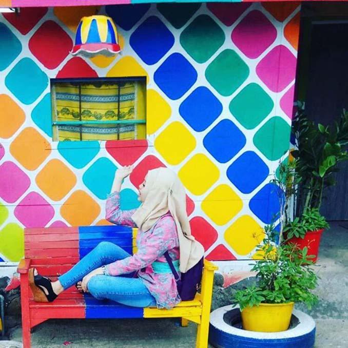 Χωριό ουράνιο τόξο στην Ινδονησία (5)