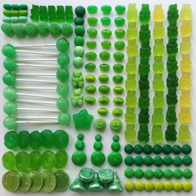 Ο Adam Hillman τακτοποιεί αντικείμενα και γλυκά με βάση το χρώμα (17)