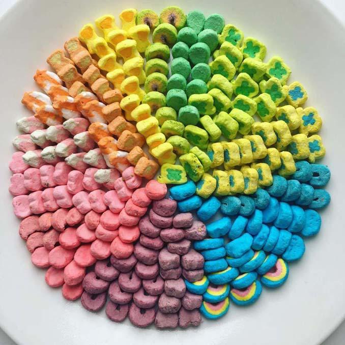 Ο Adam Hillman τακτοποιεί αντικείμενα και γλυκά με βάση το χρώμα (21)